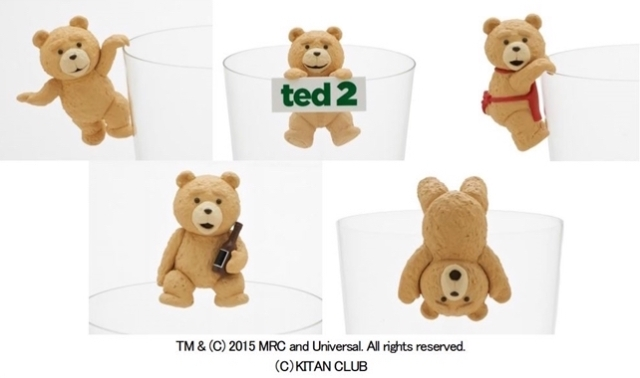 Naughty but cute Ted is now poised to decorate the edge of your cup!