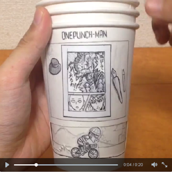 Artist pays homage to popular character One-Punch Man with cleverly designed artwork【Video】