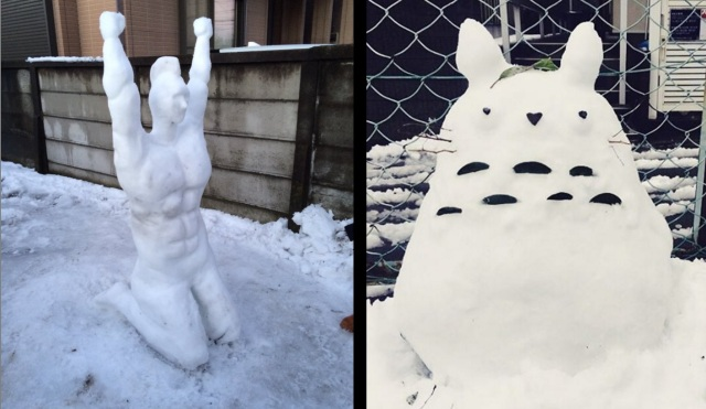 Heavy snowfall gives the people of Japan a chance to show off their secret sculpting skills【Pics】