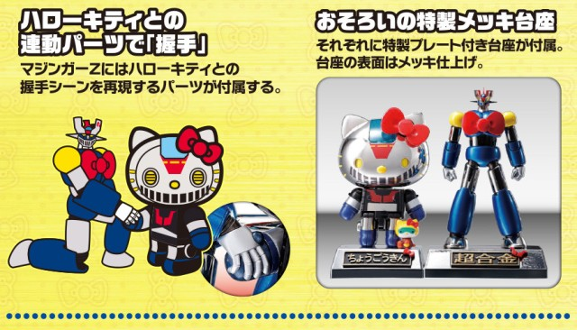 Hello Kitty x Mazinger Z die-cast crossover toys unveiled with anime short
