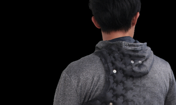 Get a massage on the go with a smartphone-controlled AiraWear massage hoodie
