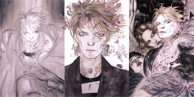 David Bowie drawn by Final Fantasy illustrator Yoshitaka Amano