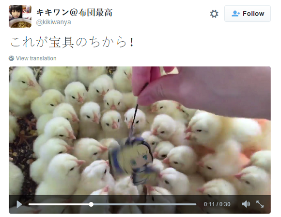 These chicks have something they really want to get across to Fate/Stay Night's Saber【Video】