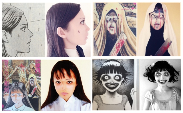 Japanese fan recreates images from legendary horror manga master Junji Ito
