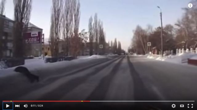 Drunk Russian man face-plants in the snow, decides it's easier to just stay there【Video】
