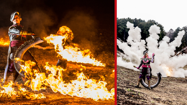 Awesome cosplay tour offers photos shoots with explosions and blazing flames! 【Photos】