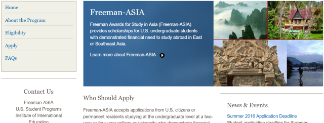 Want to study abroad in Japan but short on funds? The Freeman-ASIA program might be able to help!