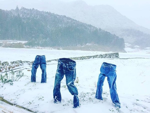 "Photos of ""invisible people"" wearing frozen jeans take Japanese Twitter by snowstorm 【Photos】"