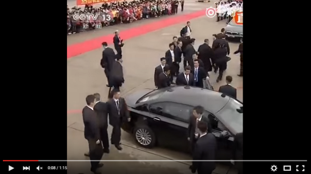 The daily life of the leader of China and his entourage of bodyguards【Video】