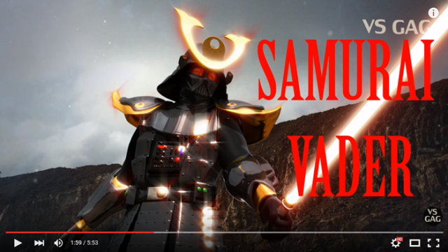What do Kamen Rider and Darth Vader have in common? They're both in this (insane) video!