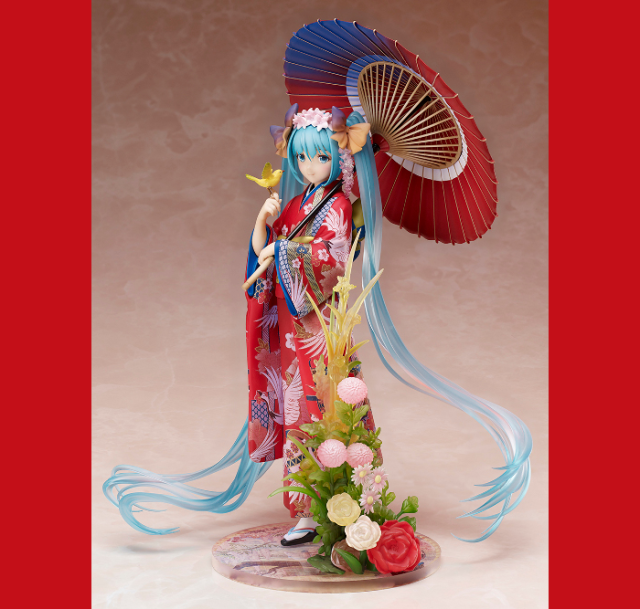 Kimono-clad Hatsune Miku figure proves she'd have looked just fine in the pre-computer era