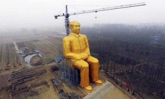 mao statue top