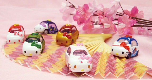 Need a souvenir to take home from Japan? How about some cute Hello Kitty minicars?