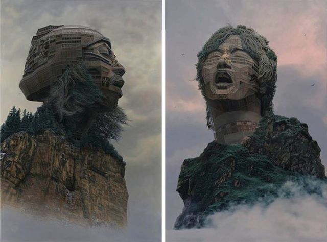 Chinese rock stars in rocks – depicting music gods as temples devoted to them【Art】