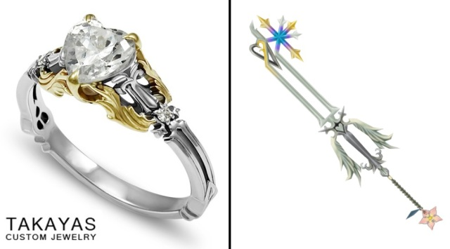 Kingdom Hearts fan commissions a gorgeous custom engagement ring from Takayas