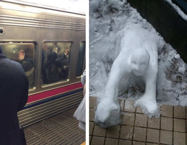 Snow zombies and spooky faces: Snowpocalypse 2016 in Japan!【Pics】