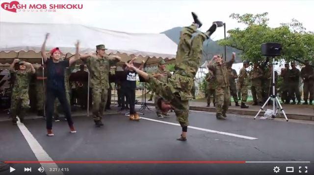 Japan Self-Defense Force members breakdance while performing Hatsune Miku song