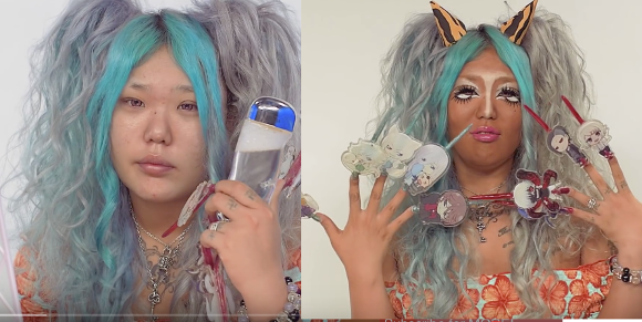 Eye-opening tutorial reveals daily makeup routine of a Japanese kuro-gyaru【Video】