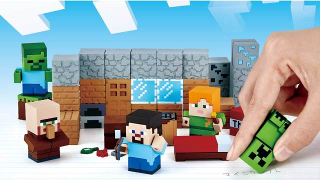 Build a house from stationery with awesome new Minecraft erasers from Bandai Japan