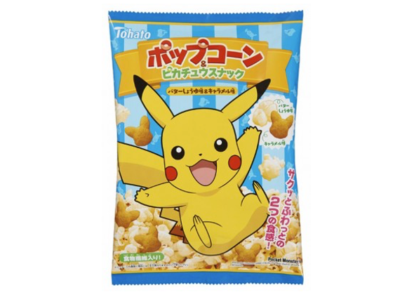 Pikachu-shaped popcorn snack coming to Japan this March
