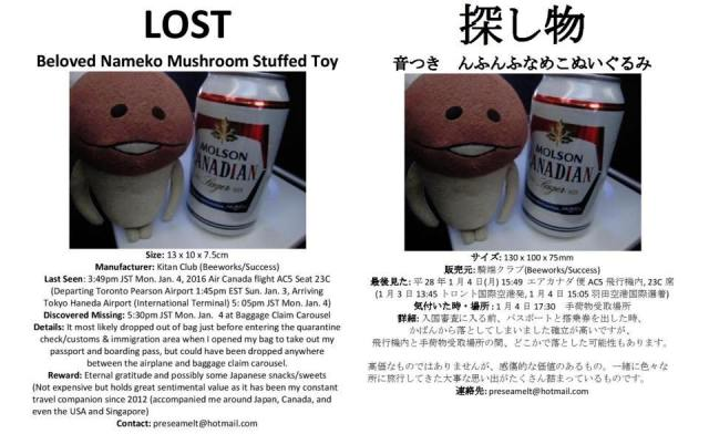 Have you seen this mushroom? In search of a beloved travel companion named Nameko