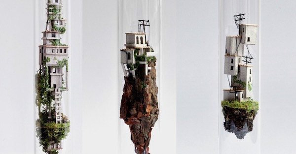 Miniature works of art are reminiscent of Laputa, One Piece floating islands