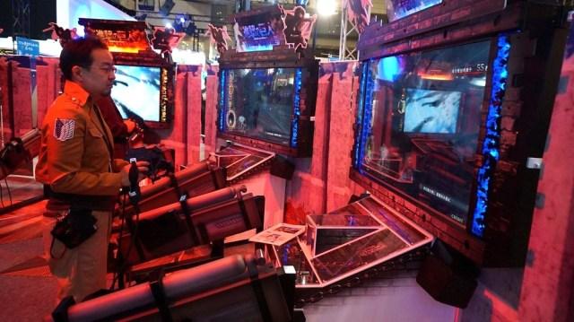 Capcom's Attack on Titan arcade game features omni-directional maneuver gear controls