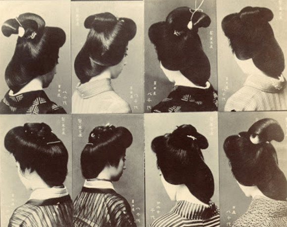 Spot the difference? Japanese women's hairstyles in the 1910s were amazingly… similar