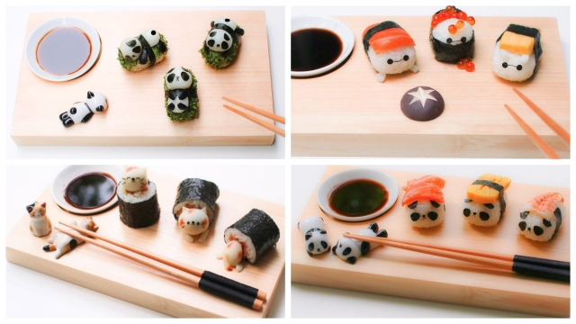 Creative mum takes cats and anime characters out of the bento box and into cute sushi collection