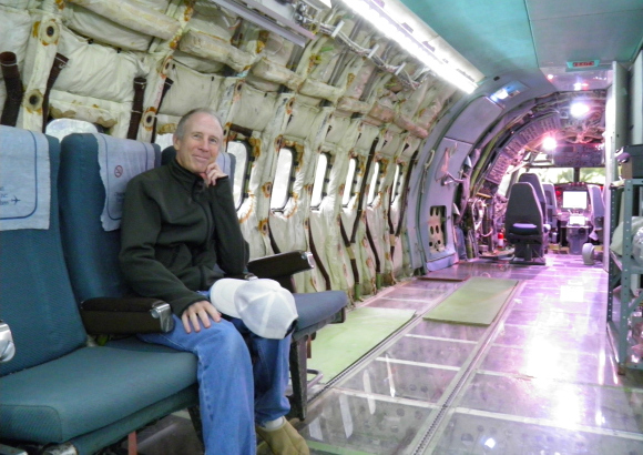 American man living in a disused airplane plans to make Japan his next stop