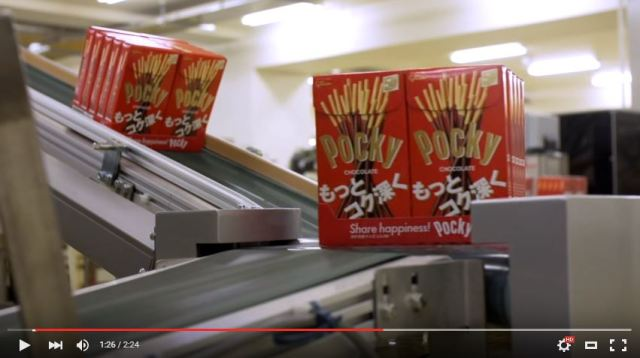 Get a behind-the-scenes look at how Pocky is made in this short clip of the Glico factory 【Video】
