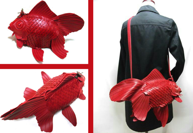 Japanese designer's goldfish bags are as elegant as the long-tailed beauties they're styled after