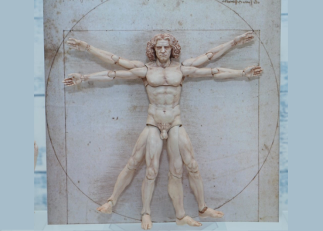 Leonardo Da Vinci's Vitruvian Man comes to life as eight-limbed action figure in Japan