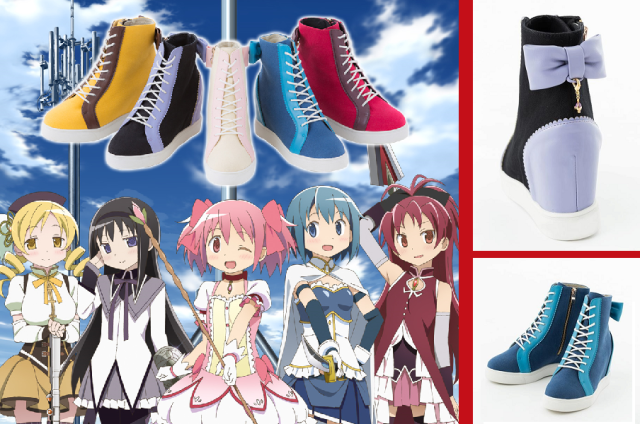 Magical shoes for magical girls as Madoka Magica anime inspires new sneaker line 【Photos】