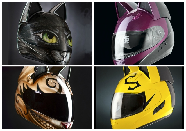 Neko motorcycle helmets featuring cute cat designs are purr-fect for cosplay and for the road