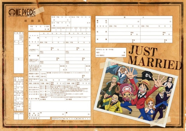 Good as the One Piece treasure: marriage registration certificates with the Straw Hat Pirates