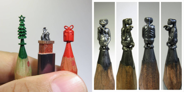 Taiwanese artist's pencil tip sculptures are miniature masterpieces 【Pics】