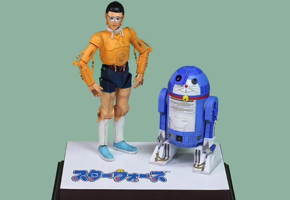 R2-Dora2: Model maker turns iconic Star Wars characters into the stars of Doraemon!