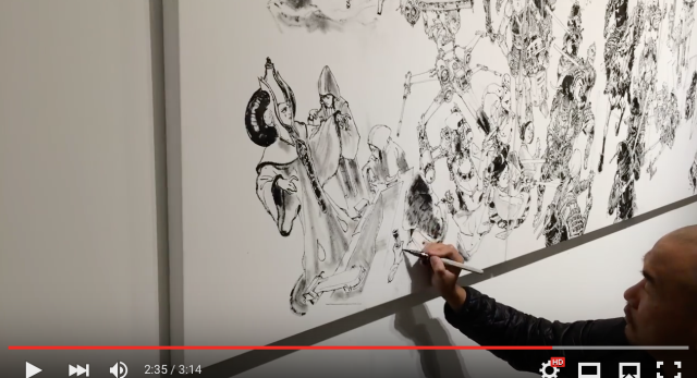 Korean artist stuns with 3-hour Star Wars illustration merging the Force and feudal Japan【Video】