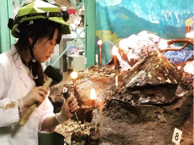 Japanese department store invites couples to mine a solid chocolate mountain this Valentine's Day