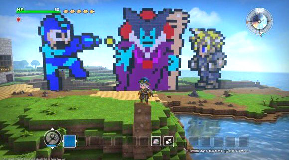 Japanese gamers hard at work on amazing Dragon Quest Builders structures