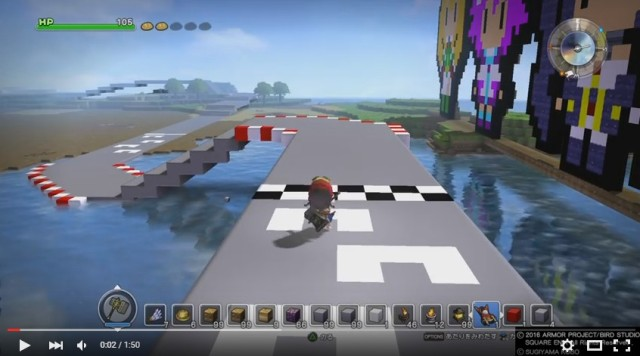 Crafty Dragon Quest Builders player creates Mario Kart-inspired custom race course