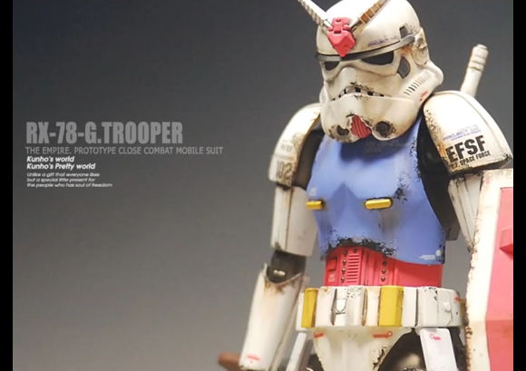 Star Wars stormtroopers don Gundam armor in fan's awesome crossover models 【Videos/Photos】
