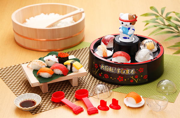 Clever home sushi-making set puts a whole new spin on revolving sushi