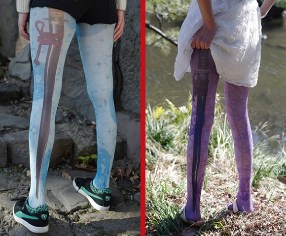 Samurai sword tights are here to make your legs look extra sharp