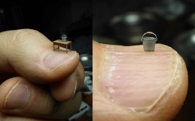 Japanese diorama artist makes models smaller than an actual thumbnail【Photos】