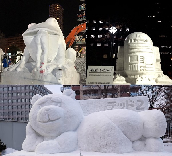 Check out some of the cool, weird, and funny sculptures featured at Sapporo's Snow Festival