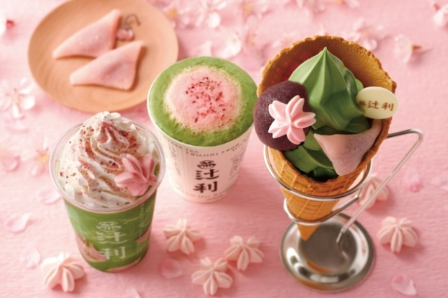 Kyoto tea maker Tsujiri offers a taste of spring with sakura sweets and drinks!