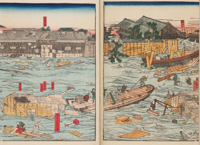Edo-era illustrated records show the disasters that have plagued Japan throughout its history