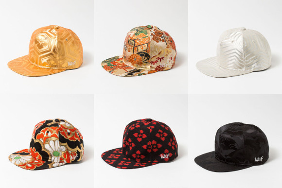 Japanese company creates stunning line of caps made from real kimono fabrics